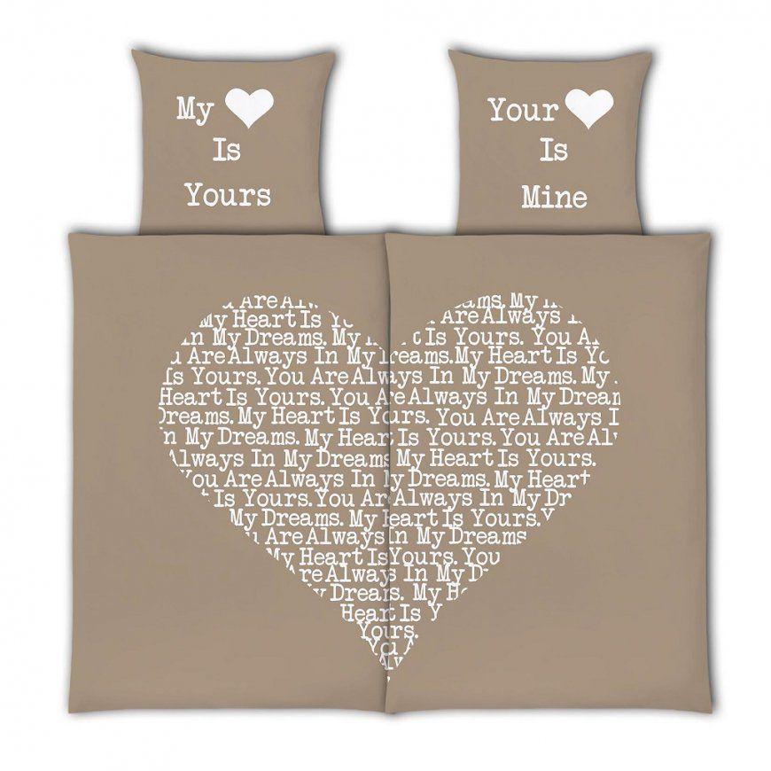 Vs Home Renforcé 4Tlg Partnerbettwäsche Valentinstag Herzform Taupe von Partner Bettwäsche 155X220 Photo