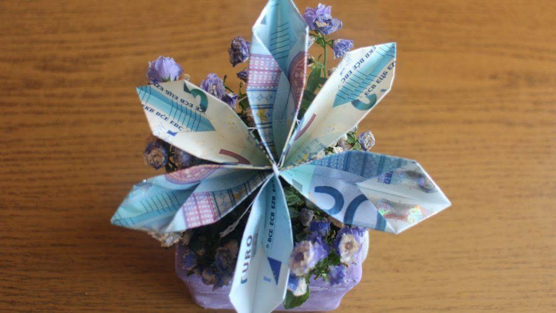 W+ Geldscheine Falten 'blume' Für Geldgeschenke  Youtube von Geldscheine Falten Blume Mit Einem Schein Bild