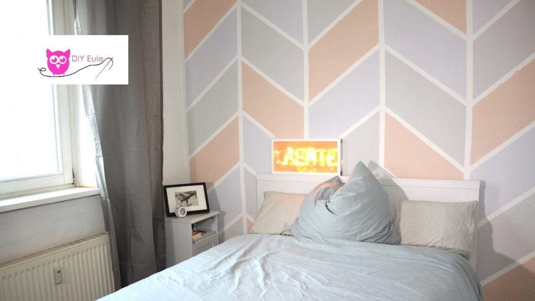 Wand Streichen Bunt Im Chevron Muster  Diy Eule  Youtube von Wand Streichen Muster Ideen Photo