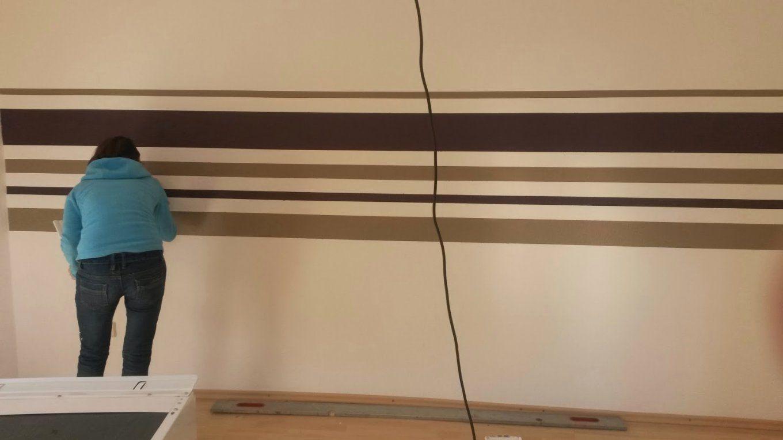 Wand Streichen Streifen Ideen Luxus Verliebte Mit Baby Nyampenh Von Wand  Streichen Mit Streifen Bild ...
