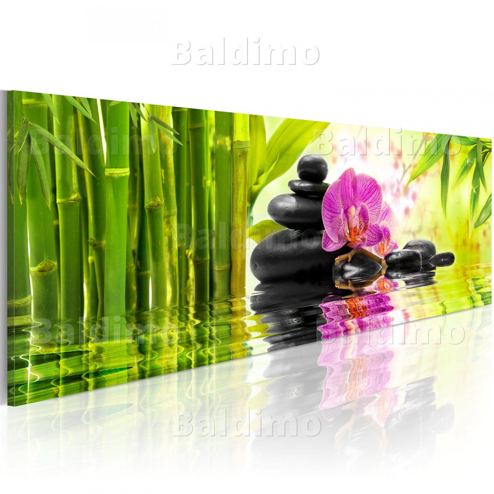 Wandbilder Xxl Spa Orchidee Bambus Steine Leinwand Bilder Wohnzimmer Von  Orchideen Bilder Auf Leinwand Bild