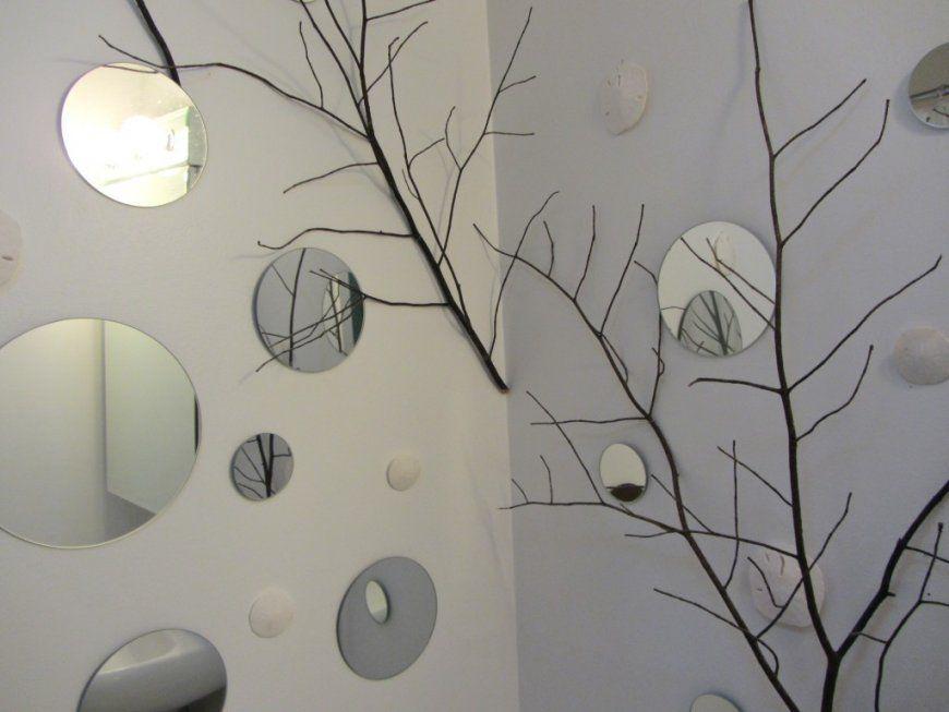 Wanddeko Selber Machen Mit Runden Spiegeln Und Holz  Diy – Do It von Wanddeko Schlafzimmer Selber Machen Bild