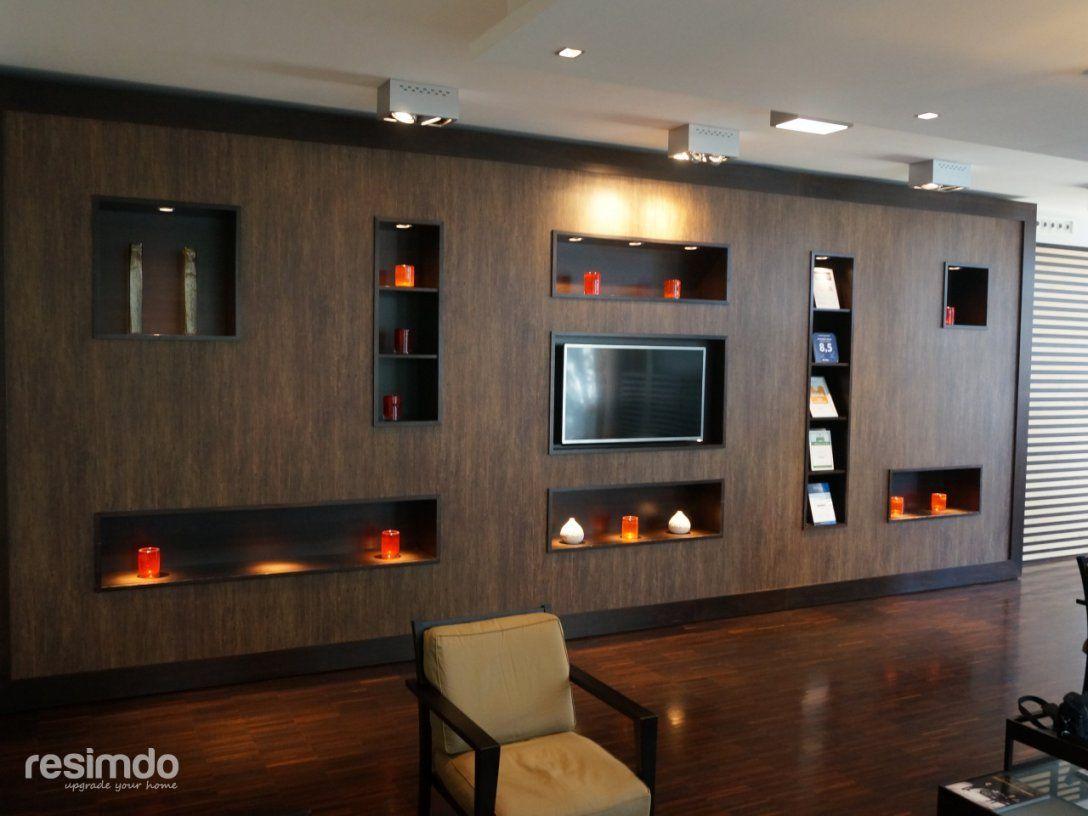 Wanddesign  Wohnwand Selber Bauen  Resimdo von Möbel Türen Selber Bauen Bild
