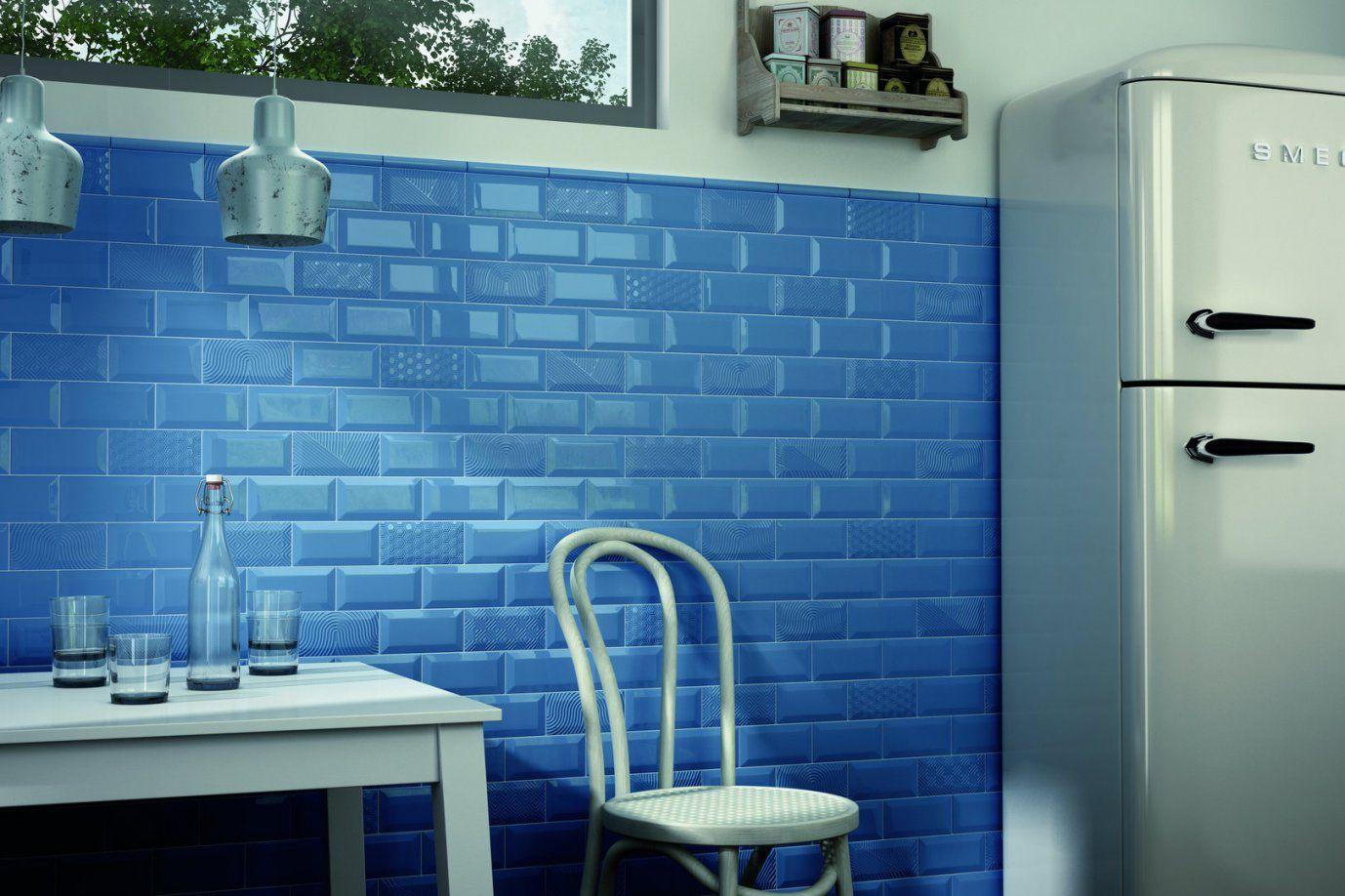 Wandfliese Equipe Metro Blue Glänzend 75X15 Cm Online Kaufen von Metro Fliesen 7 5X15 Photo
