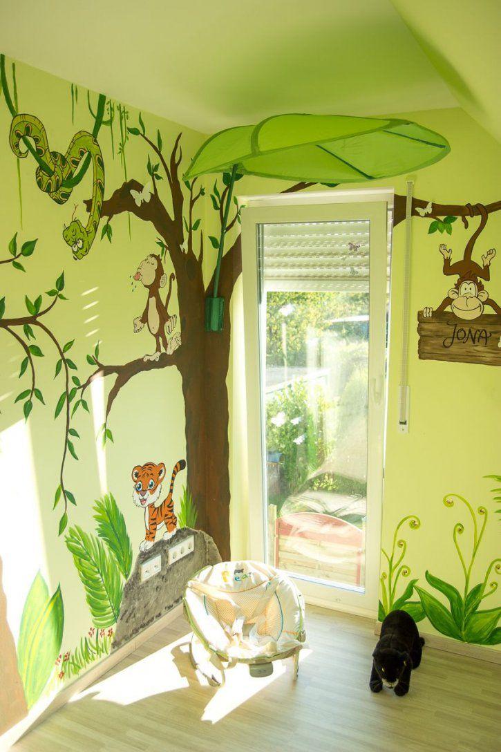 Wandgestaltung Kinderzimmer Dschungel  Codecafe von Wandgestaltung Babyzimmer Selber Machen Bild
