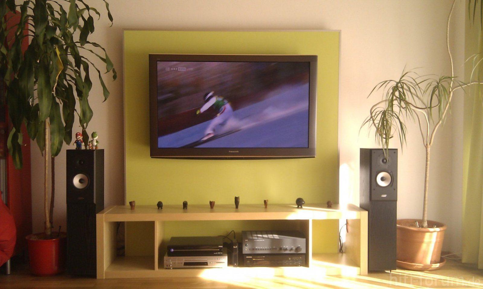 Wandhalterung Tv Kabel Verstecken Mit Fernseher An Der Wand von Fernseher An Wand Kabel Verstecken Bild