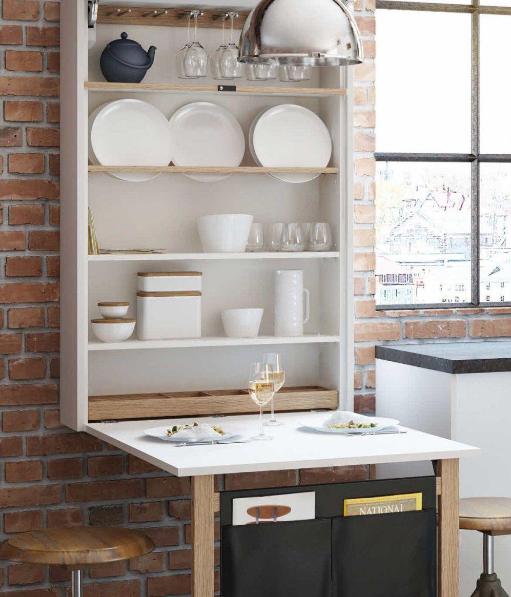 Wandregal Und Esstisch Zugleich Ewe Klapptisch  Kleine Küche von Esstisch Für Kleine Wohnung Photo