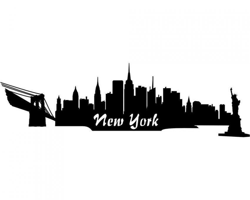 Wandsticker New York Skyline Wandtattoo Viele Farben Und Größen von Skyline New York Wandtattoo Bild