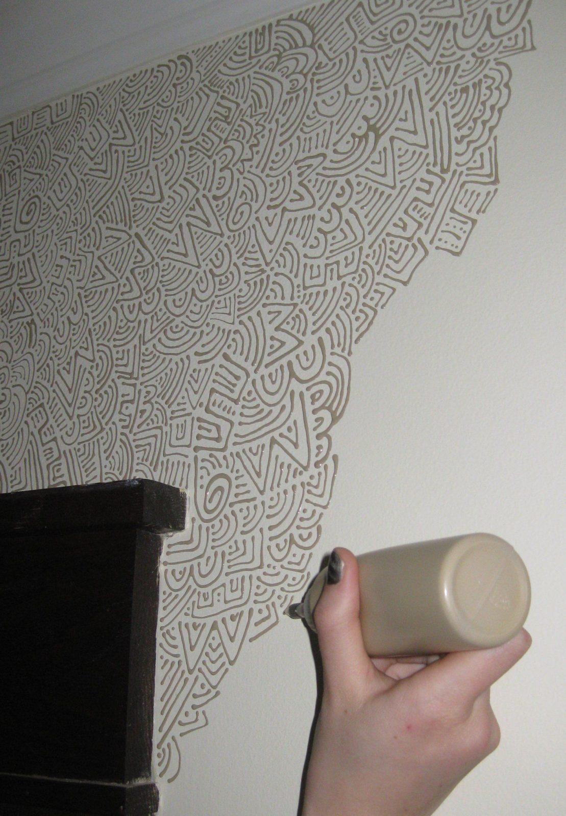Wandstreichenideen Und Techniken Für Moderne Wandgestaltung von Moderne Wandgestaltung Mit Farbe Bild