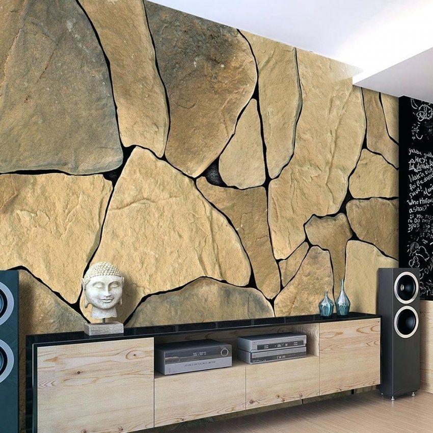 Wandtapete Stein Fototapete Optik Steinwand Vlies Tapete 3 von Fototapete 3D Stein Tapete Bild