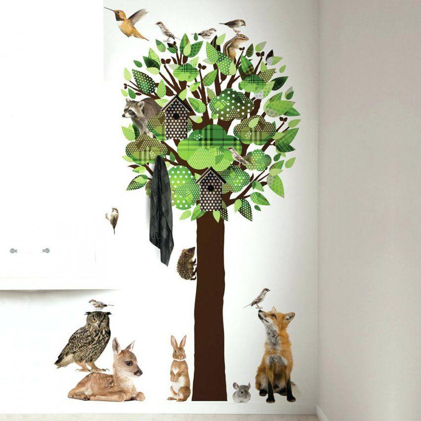 Wandtattoo Baum Kek Amsterdam Waldtiere Gra 1 4 N 200Cm Bei von Wandtattoo Baum Kinderzimmer Xxl Bild