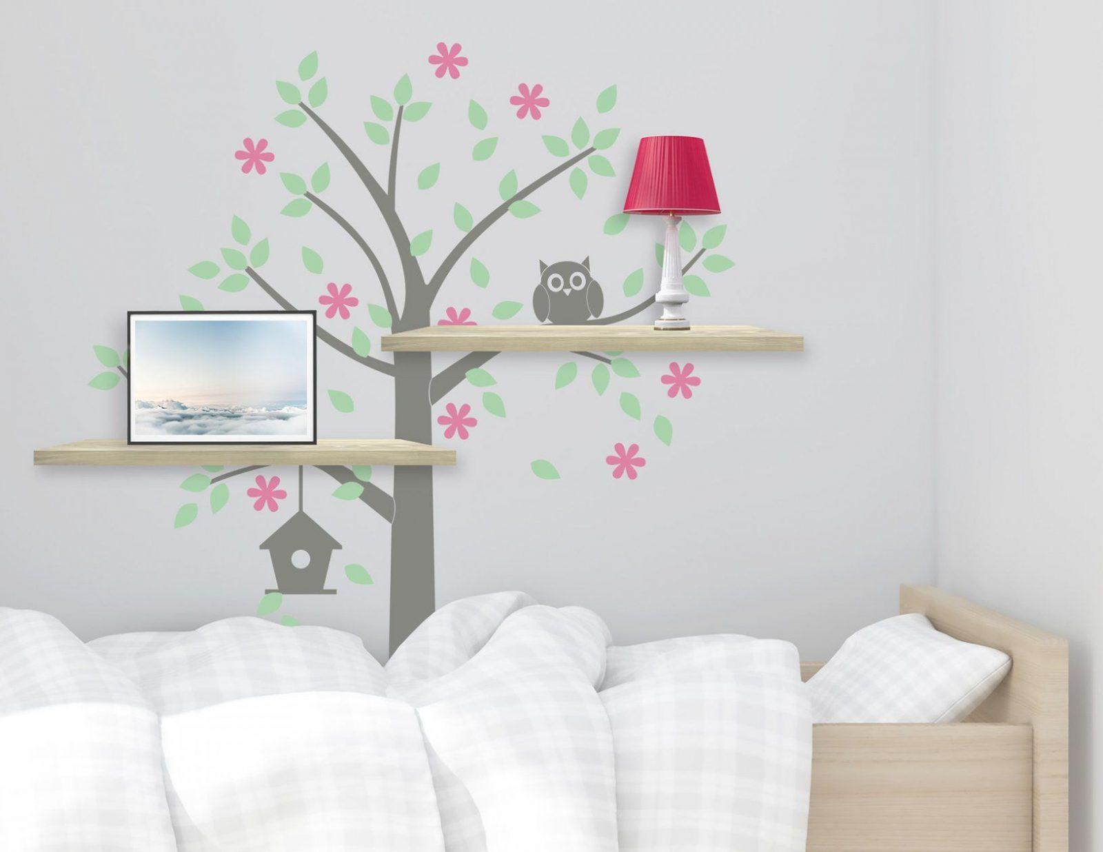 Wandtattoo Baum Mit Eule Süßes Motiv Für Das Kinderzimmer von Wandtattoo Baum Mit Eulen Bild