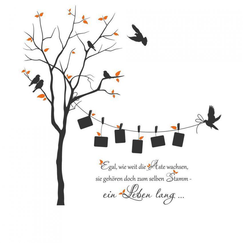 Wandtattoo Baum Mit Fotorahmen U Spruch  Zweifarbiges Wandtattoo von Wandtattoo Baum Mit Fotorahmen Photo