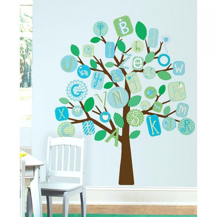 Wandtattoo Baum Roommates Wandsticker Groaer Blaues Alphabet von Wandtattoo Baum Kinderzimmer Xxl Photo