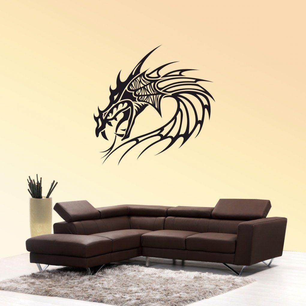 Wandtattoo Drachen Kopf Wand Aufkleber Drachesticker von Aufkleber Für Die Wand Bild