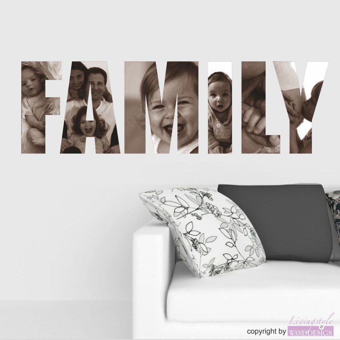 Wandtattoo Family Mit Ihren Eigenen Fotos  Lifestyle  Wandtattoos von Wandtattoo Mit Eigenem Foto Bild