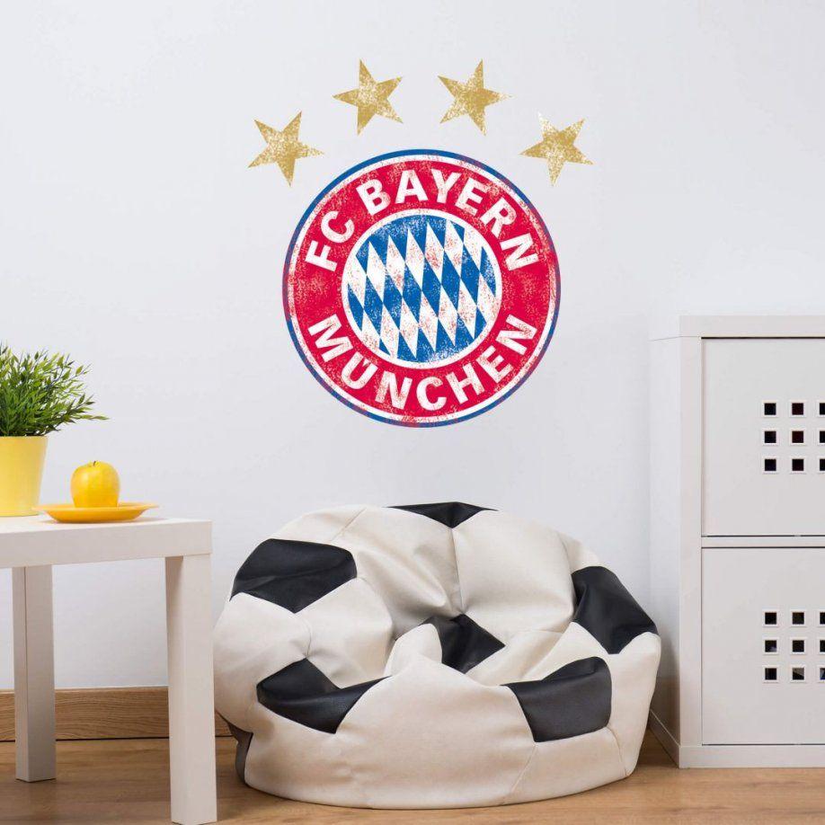 Wandtattoo Fc Bayern München Logo Used Look  Trenddekoch von Fc Bayern Gardinen Bild