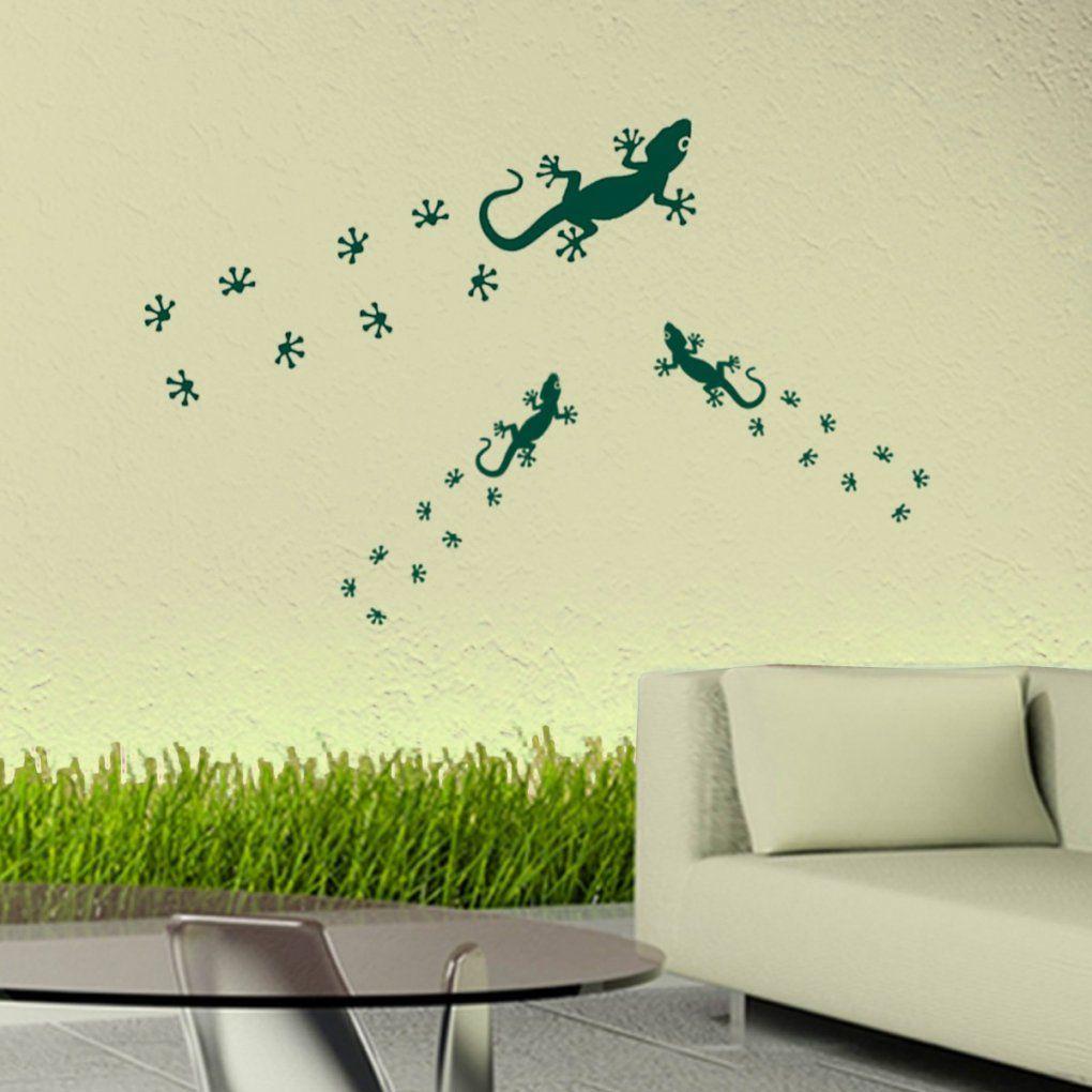Wandtattoo Gecko Mit Babys Wand Aufkleber 60X20Cm von Aufkleber Für Die Wand Bild