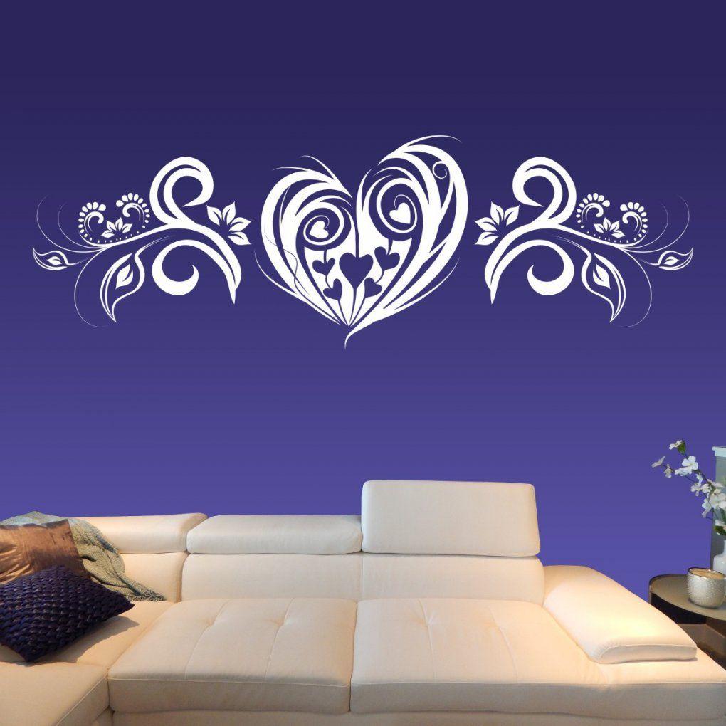 Wandtattoo Herz Liebe Mit Wand Aufkleber Blumen Ranke Xxl von Aufkleber Für Die Wand Bild
