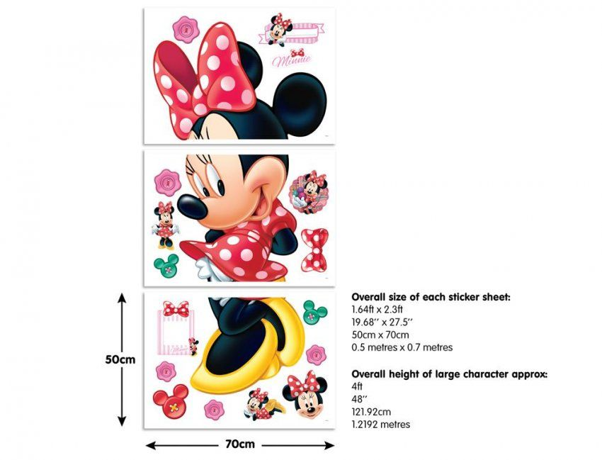 Mehr Designs Mickey Maus Wunderhaus Minnie Wandaufkleber Abnehmbare ...