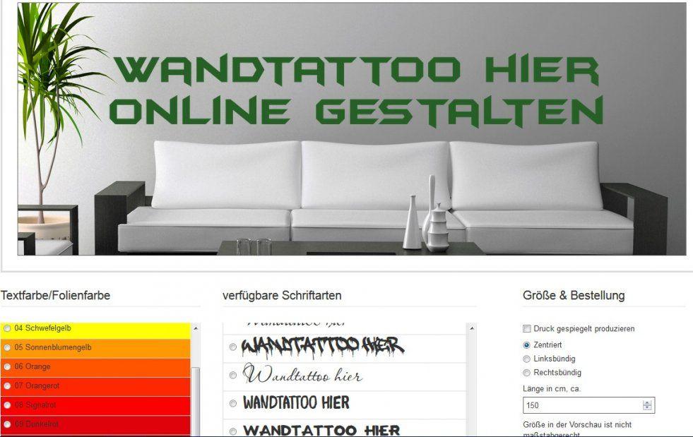 Wandtattoo Selber Gestalten  Texte Und Wandsticker Sprüche von Wandtattoos Selbst Gestalten Kostenlos Bild