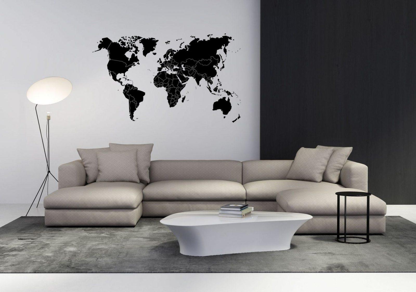 Wandtattoo Weltkarte Mit Ländergrenzen In Versch Farben Und Größen von Wandtattoo Weltkarte Mit Ländergrenzen Bild
