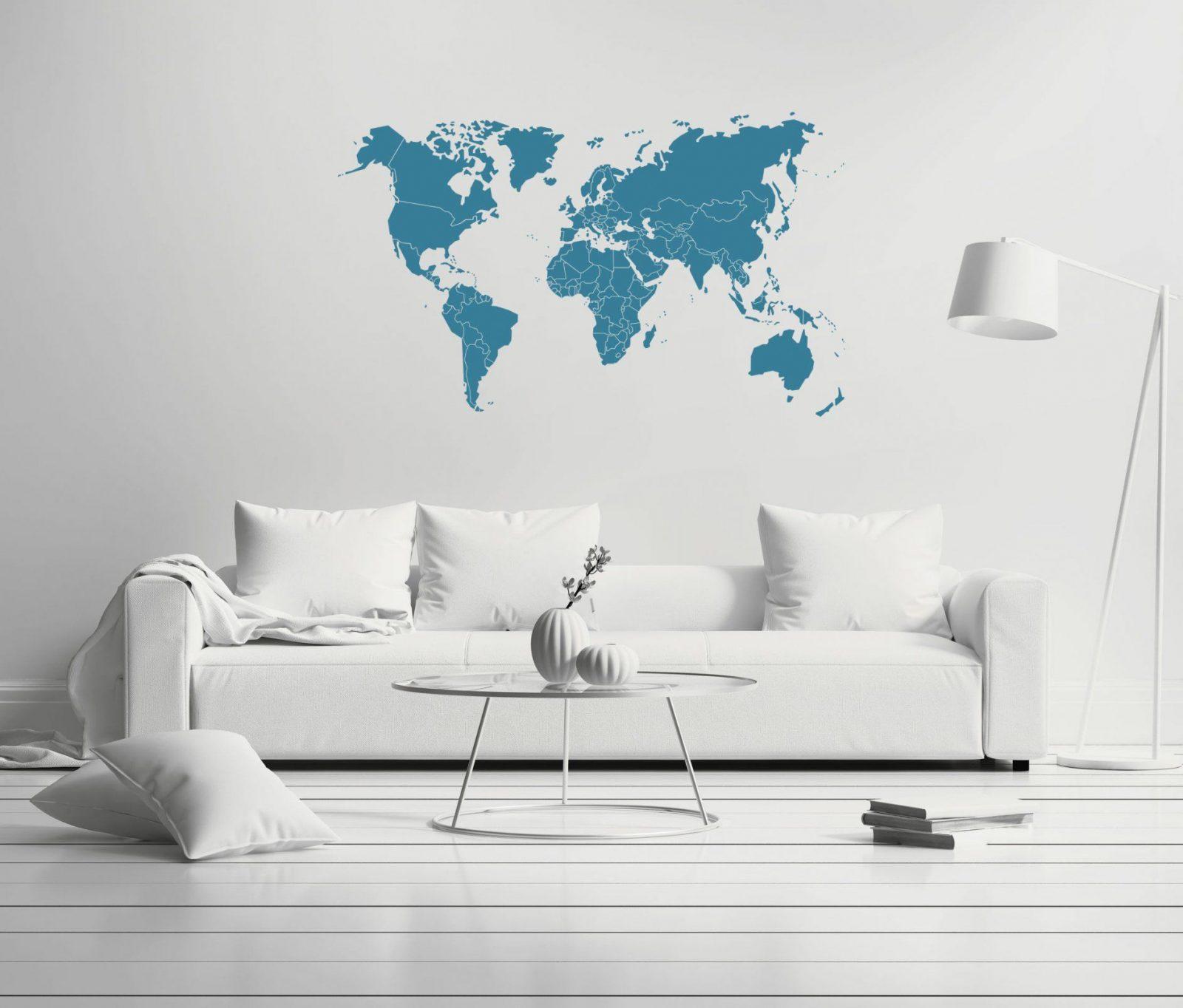 Wandtattoo Weltkarte Mit Ländergrenzen In Versch Farben Und Größen von Wandtattoo Weltkarte Mit Ländergrenzen Photo