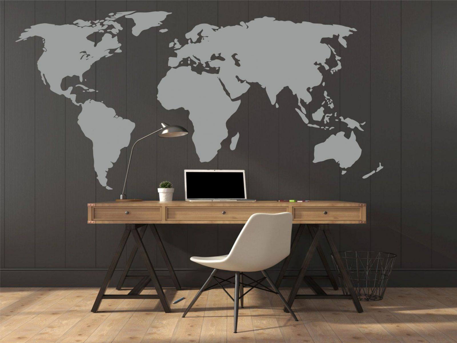 Wandtattoo Weltkarte von Aufkleber Für Die Wand Photo