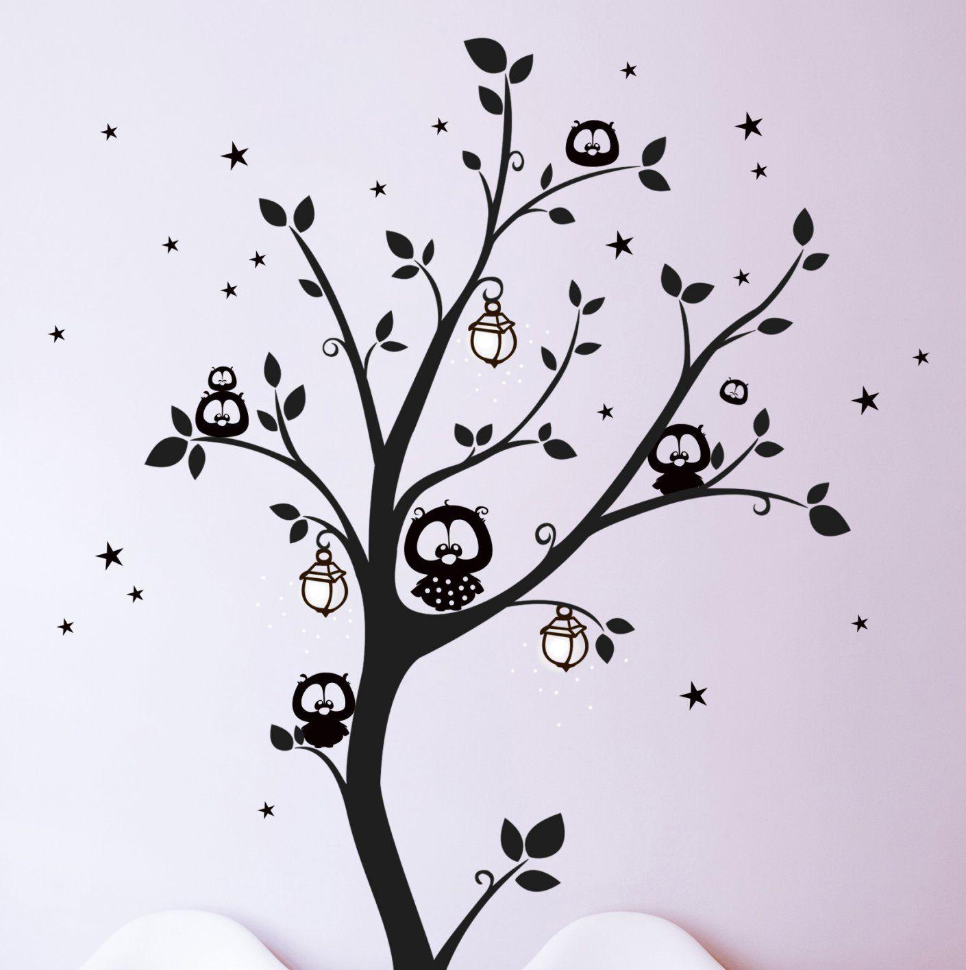 Wandtattoos  Wandtattoo Wandaufkleber Eulenbaum Eulen Baum M943 von Wandtattoo Baum Mit Eulen Photo
