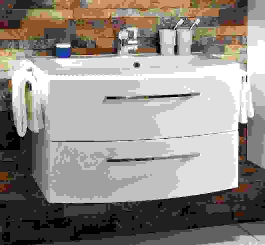 Waschbecken Cm Breit Mt51 Hitoiro Waschbeckenunterschrank Weis Von von Waschbecken 70 Cm Mit Unterschrank Photo