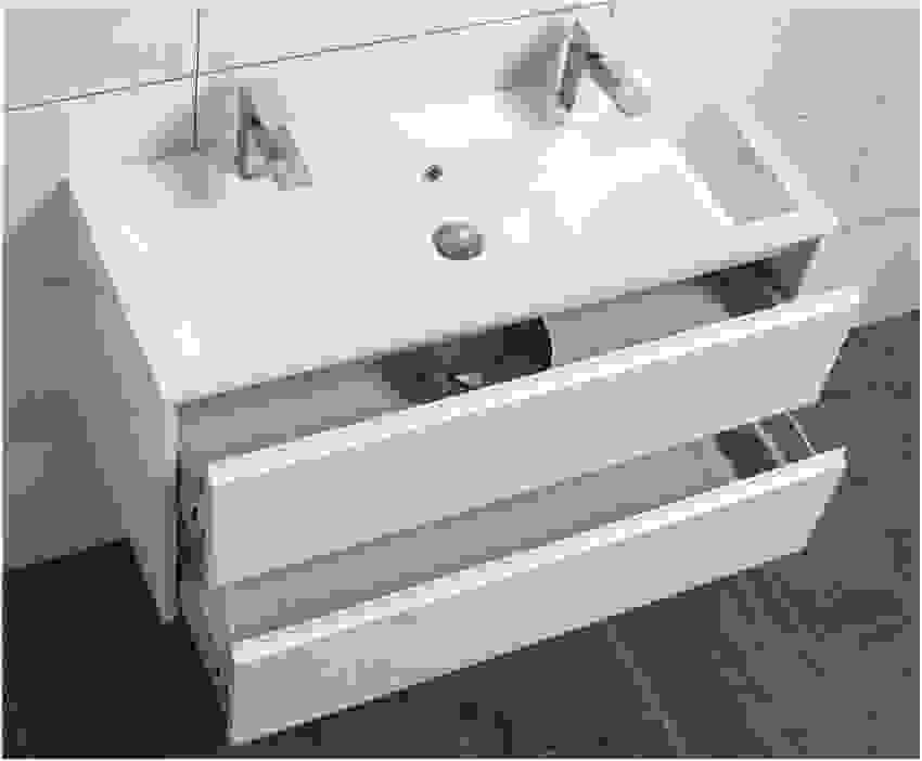 Waschbecken Unterschrank 40 Cm Breit Tief Ml34 Hitoiro Mit Top Von von Waschtisch 40 Cm Tief Bild