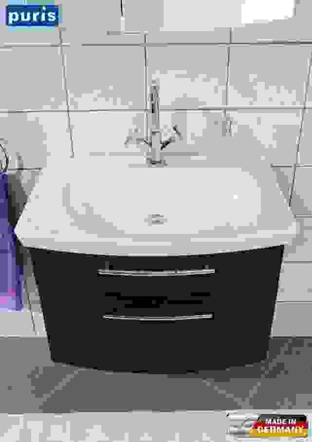 Waschbeckenunterschrank Weis Cm Breit Waschbecken Manhattan Grau Von von Waschbecken 70 Cm Mit Unterschrank Photo
