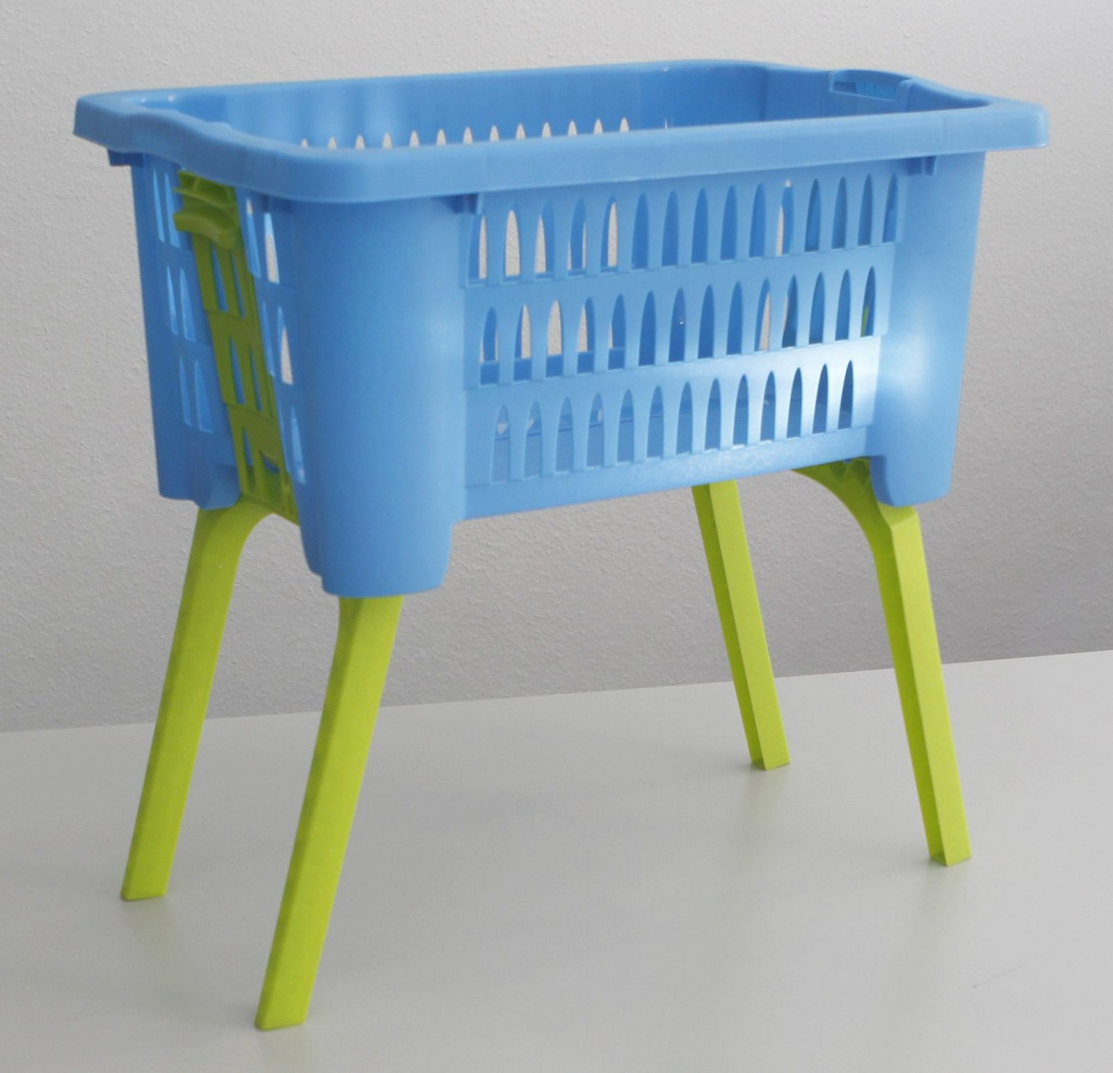 Wäschekorb Mit Ausklappbaren Beinen 60 X 40 X 58 Cm Hellblau Grün von Wäschekorb Mit Ausklappbaren Beinen Bild