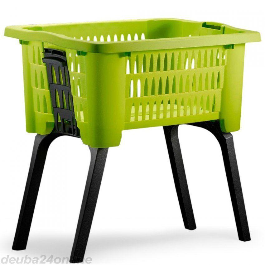 Wäschekorb Mit Ausklappbaren Beinen Grün   Zum Onlineshop von Wäschekorb Mit Ausklappbaren Beinen Bild