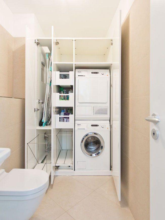 Waschmaschine Und Wäschetrockner Im Einbauschrank Übereinander von Schrank Für Waschmaschine Und Trockner Übereinander Ikea Photo