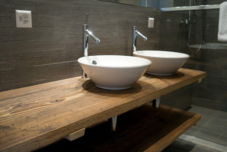 Waschtisch Aus Altholz  Badezimmer  Pinterest  Altholz von Waschtisch Holz Mit Aufsatzwaschbecken Photo