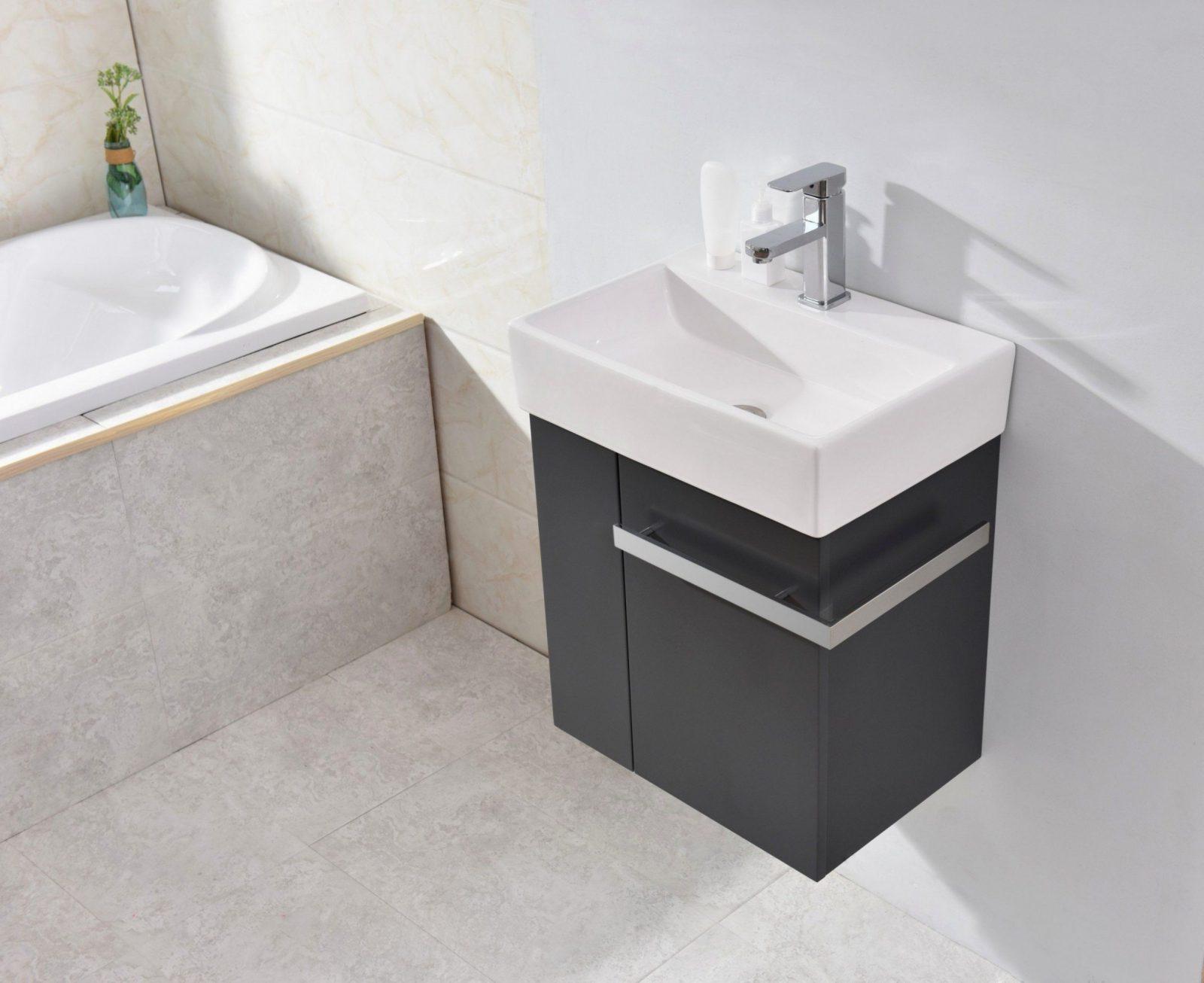 G stewc badm bel waschbecken mit unterschrank und for Waschtisch fur gaste wc