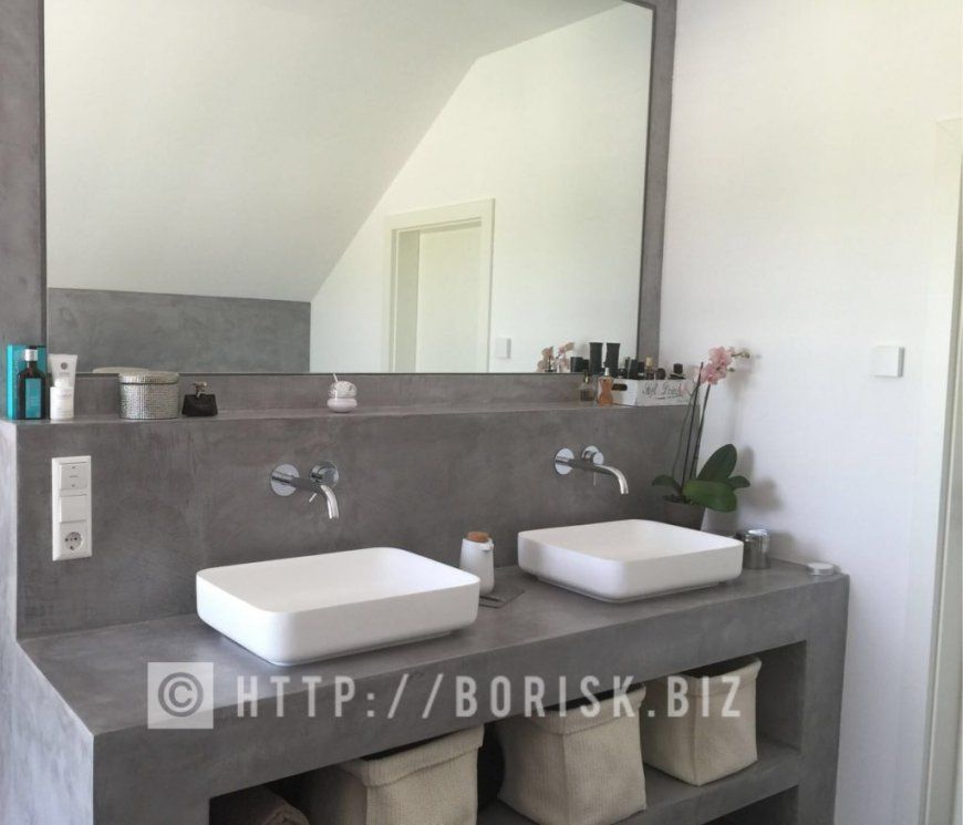 Waschtisch In Beton Optik Bauen – Boriskbiz von Waschbecken Beton Selber Machen Photo