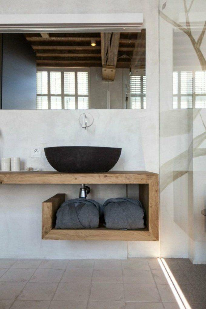 Waschtisch Selber Bauen – Ausführliche Anleitung Und Praktische von Waschtisch Holz Mit Aufsatzwaschbecken Bild