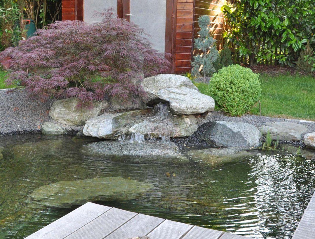 Wasser Im Garten  Teichbau Dollinger von Kleiner Wasserlauf Im Garten Photo