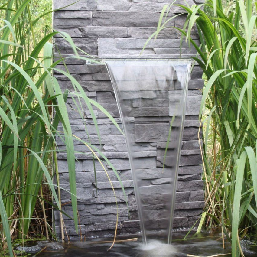 Wasserfall Für Den Garten Teich Gartenteich Zum Selber Bauen von Mauer Wasserfall Selber Bauen Bild