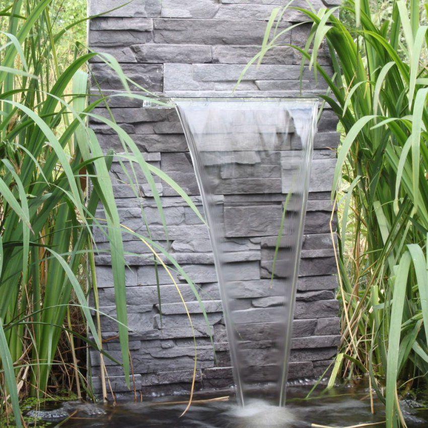 Wasserfall Für Den Garten Teich Gartenteich Zum Selber Bauen von Wasserwand Garten Selber Bauen Photo