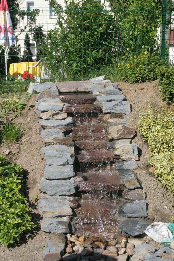 Wasserfall Selber Bauen Mit Wasserfall Selber Bauen Anleitung von Wasserfall Garten Bauen Anleitung Bild