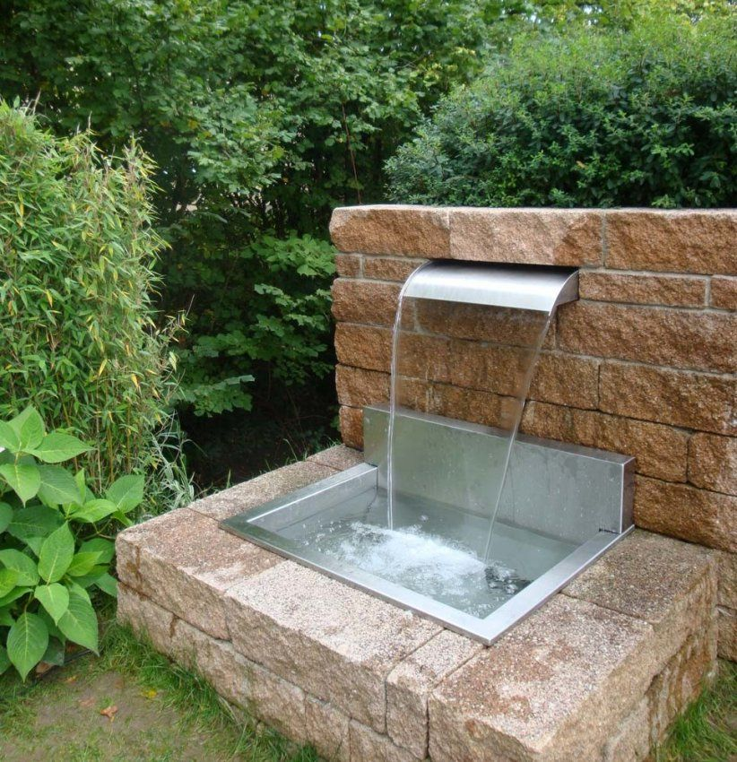 Wasserspiele Im Garten Edelstahl Moderne Hausdekorationen von Moderne Wasserspiele Für Den Garten Bild