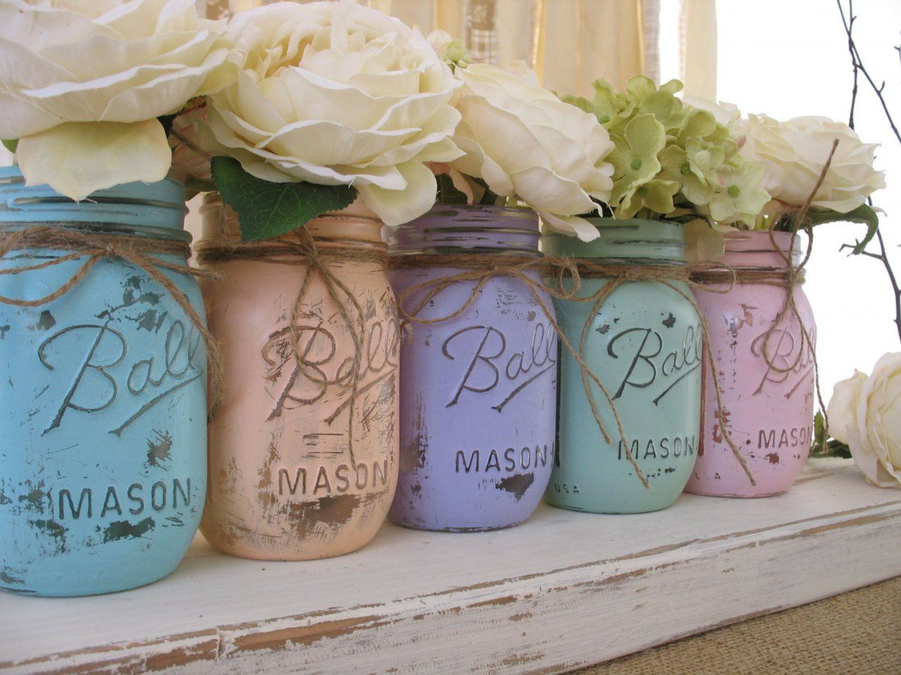 Ways To Turn Mason Jars Into Vases von Mason Jar Flower Vases Bild