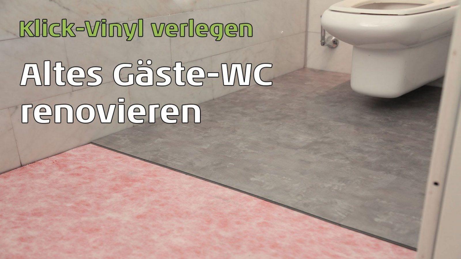 Wc Renovierung Mit Klick Vinyl  Youtube von Vinylboden Auf Fliesen Legen Photo