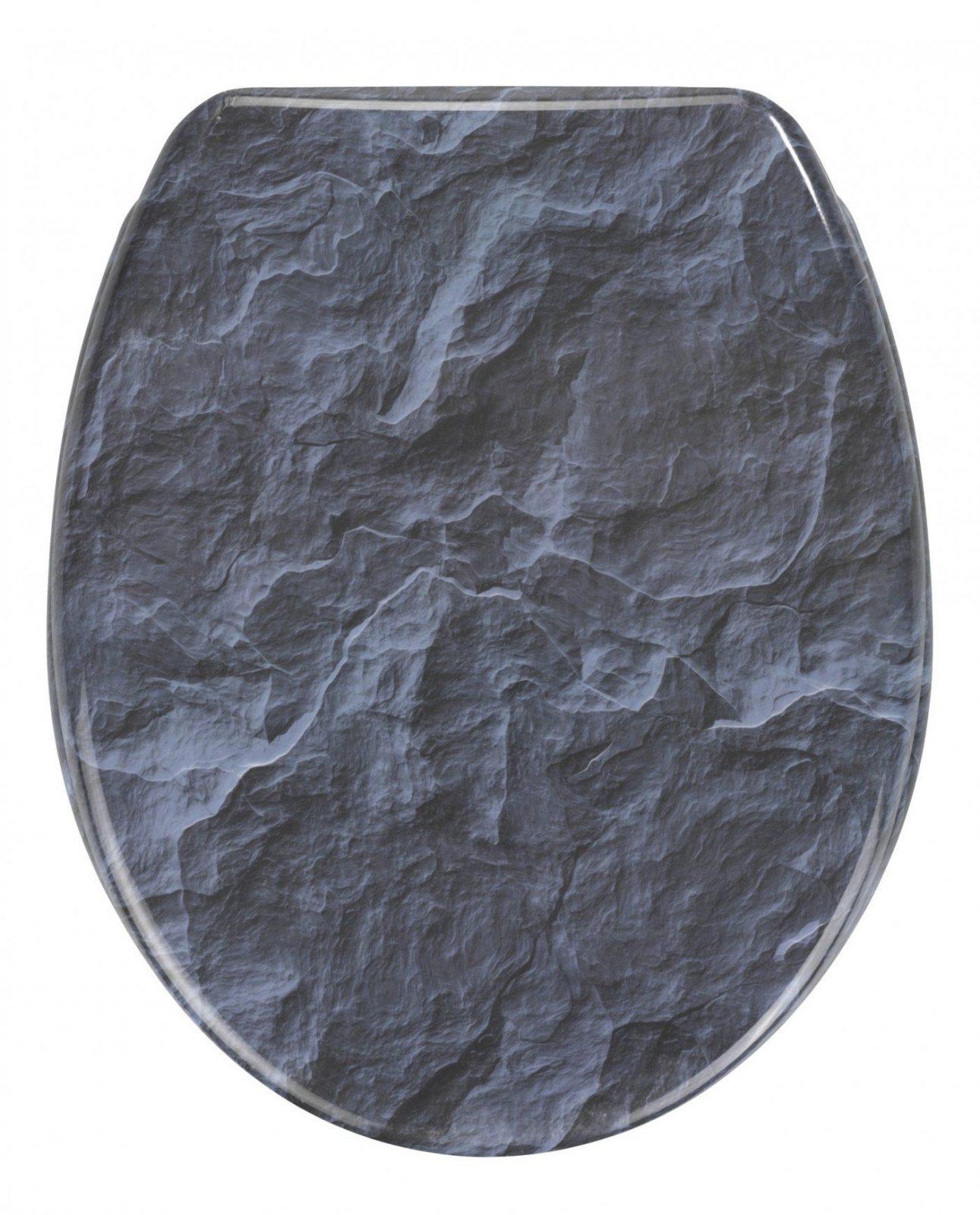 Wcsitz Slate Rock Mit Absenkautomatik Von Wenko Jetzt Kaufen Bei von Wc Sitz Aufkleber Selber Gestalten Photo