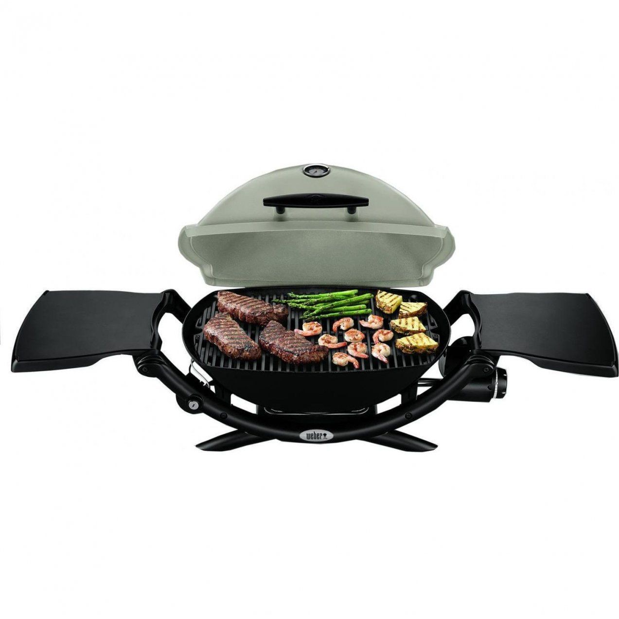 Weber Q 2200 Portable Propane Gas Grill  Titanium  Bbq Guys von Weber Gasgrill Q 2200 Station Photo
