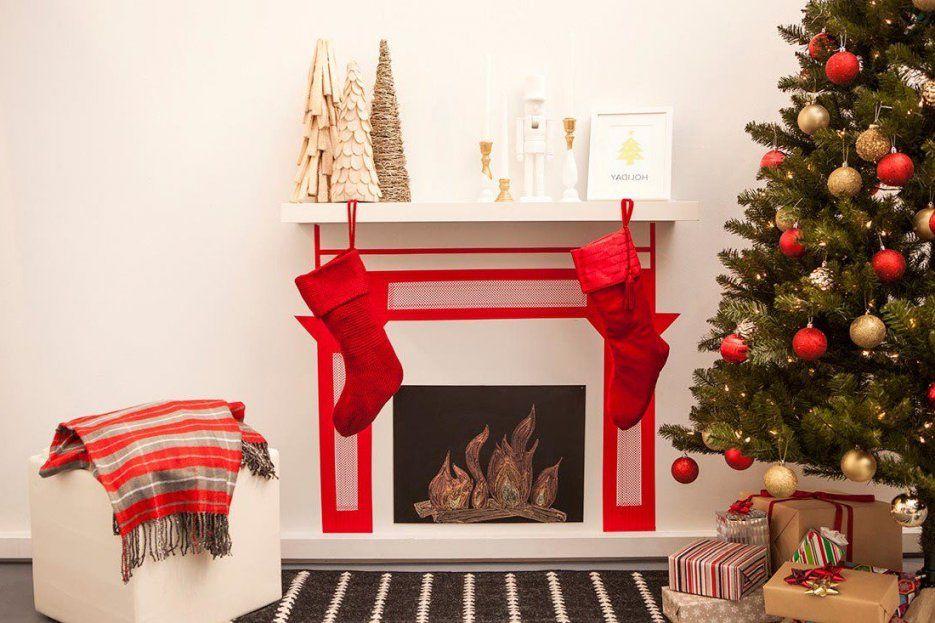 Weihnachten Am Kamin Dekokamin Aus Pappe Basteln  Diy von Kamin Aus Pappe Basteln Bild