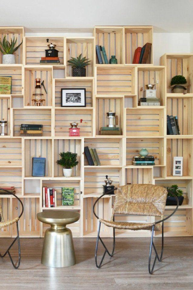 Weinkisten Regal Selber Bauen Für Eine Stilvolle Einrichtung von Raumteiler Regal Selber Bauen Photo